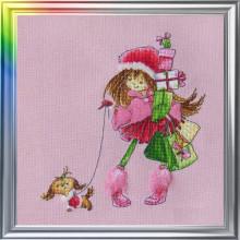 """Cross-Stitch Kit """"Two Girlfriends Walking"""" LanSvit D-028"""