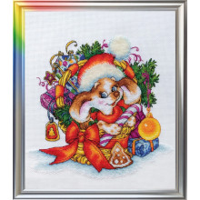 "Cross-Stitch Kit ""New Year's Puppy"" LanSvit D-056"