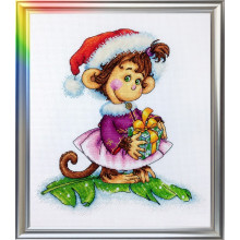 "Cross-Stitch Kit ""The Coquettish Monkey"" LanSvit D-053"