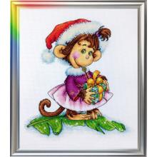 Набор для вышивания ЛанСвит, Кокетливая обезьянка (Д-053)