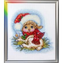 Набір для вишивання ЛанСвіт, Різдвяна овечка (Д-052)