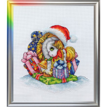 "Cross-Stitch Kit ""The Snowgold Horse"" LanSvit D-047"
