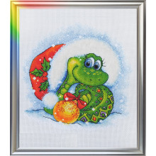 "Cross-Stitch Kit ""Snake's Charm"" LanSvit D-042"