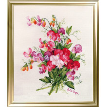 "Cross-Stitch Kit ""Sweet Pea"" LanSvit А-004"