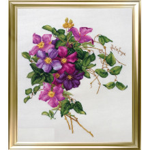 "Cross-Stitch Kit ""Clematis""  LanSvit А-001"