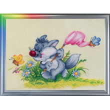 "Cross-Stitch Kit ""Chasing the Summer"" LanSvit D-013"