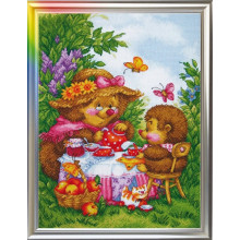 "Cross-Stitch Kit ""At My Granny's Place"" LanSvit D-006"