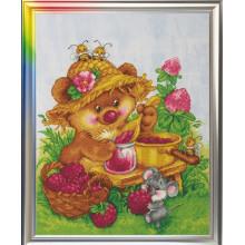 "Cross-Stitch Kit ""Raspberry Happiness"" LanSvit D-004"