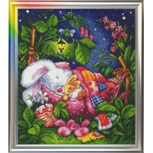"Cross-Stitch Kit ""Good Night, My Honey Bunny"" LanSvit D-003"