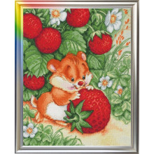 "Cross-Stitch Kit ""Strawberry Happiness"" LanSvit D-001"