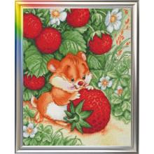 "Cross-Stitch Kit ""Strawberry Happiness"" LanSvit D-001"