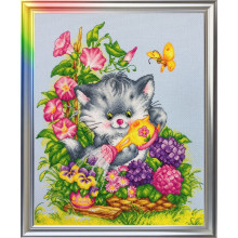 "Cross-Stitch Kit ""Fluffy Gardener"" LanSvit D-012"