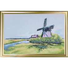 "Cross-Stitch Kit ""Windmill in Holland"" LanSvit A-007"