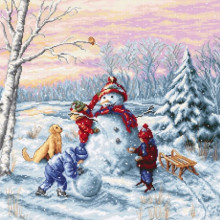 Набор для вышивания Luca-S, Счастливое Рождество (В2358)