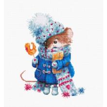 Набор для вышивания Luca-S, Рождественская мышь (В1168)