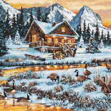 "Cross-Stitch Kit ""Geese on the Stream""  Luca-S (B590)"
