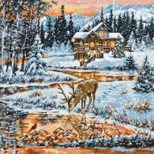 Набор для вышивания Luca-S, Хижина в лесу (BU4022)