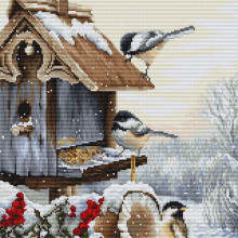 "Cross-Stitch Kit ""Bird House""  Luca-S (BU4021)"