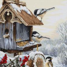 Набір для вишивання Luca-S, Будиночок для пташок (BU4021)