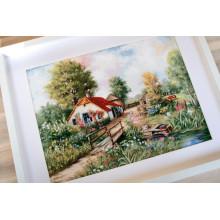 """Cross-Stitch Kit """"Village landscape""""  Luca-S (BU4011)"""