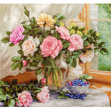 "Cross-Stitch Kit ""Still Life with Blueberries""  Luca-S (B588)"