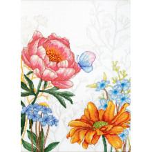 Набор для вышивания Luca-S, Цветы и бабочкa (BU4019)