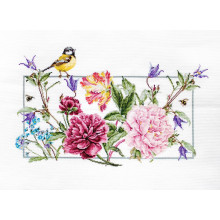 "Cross-Stitch Kit ""Spring Flowers""  Luca-S (BA2359)"