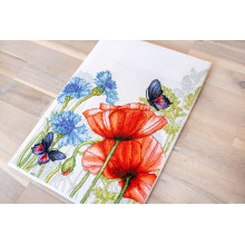 "Cross-Stitch Kit ""Poppies and Butterfly""  Luca-S (BU4018)"
