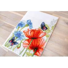 Набор для вышивания Luca-S, Маки и бабочкa (BU4018)